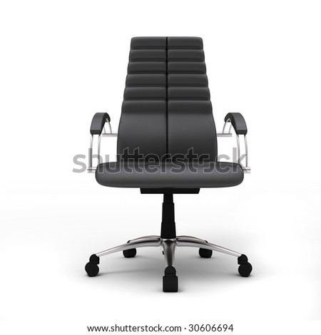 One office chair isolated on white background - stock photo