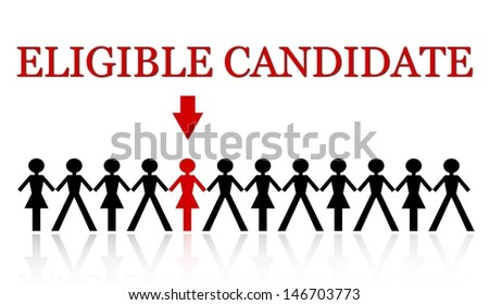one person stand out from the crowd - stock photo