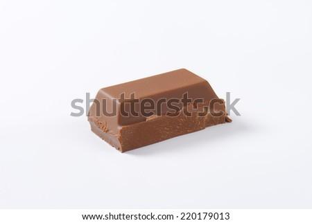 one piece of dark chocolate bar - stock photo