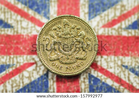 One Pound - stock photo