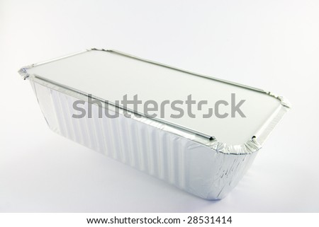 One rectangle catering tray on a white background - stock photo