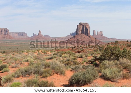 One Scene while driving through Monument Valley Park - stock photo