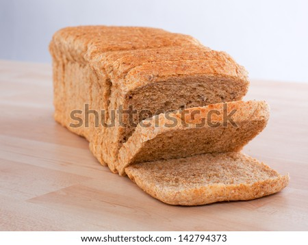 One sliced loaf of bread - stock photo