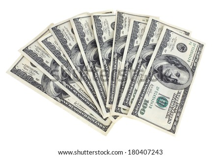 One Thousand Dollars - stock photo