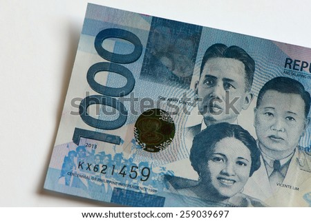One Thousand Pesos/Philippine Money - stock photo