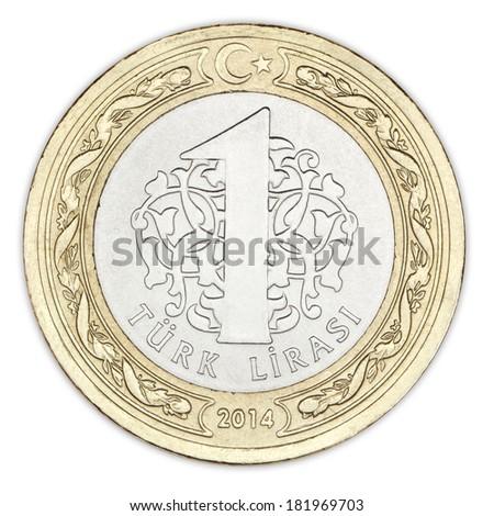 One Turkish Lira / Bir Lira - stock photo