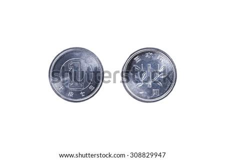 one yen - stock photo