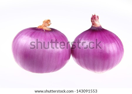 Onions isolated on white background - stock photo