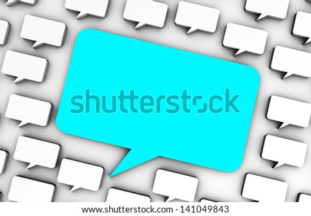 Online Advertising on Social Media Chat Bubbles - stock photo
