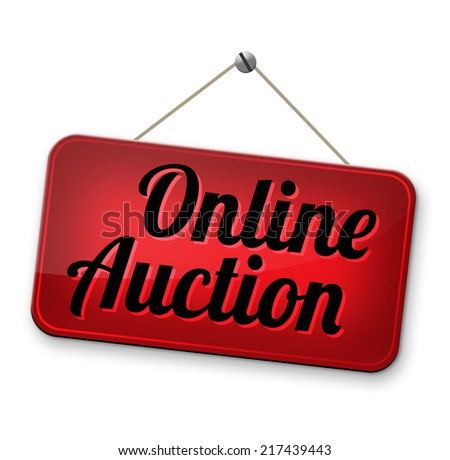 Online auction bidding. Buy or sell on the internet.  - stock photo