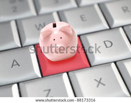 Online banking - stock photo