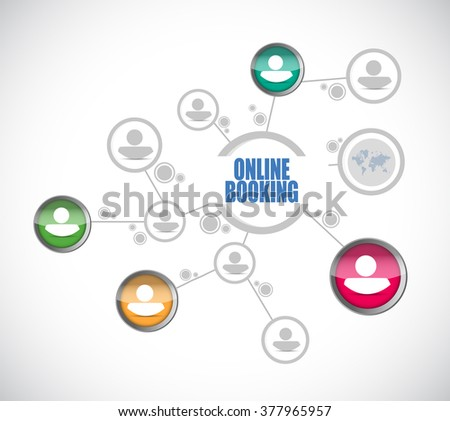 online booking people diagram sign concept illustration design graphic - stock photo
