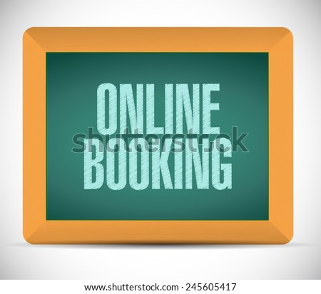 online booking road sign illustration design over a white background - stock photo