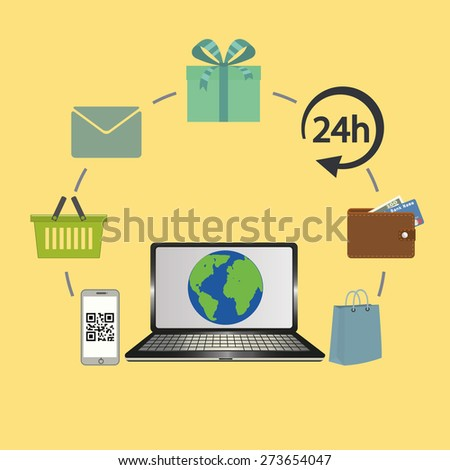 Online Business and E-Commerce Concept - stock photo