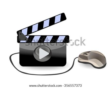 Online cinema video film - stock photo