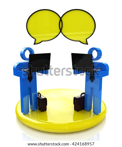 online communication in the design of the information related to the Internet and communication. 3d illustration - stock photo