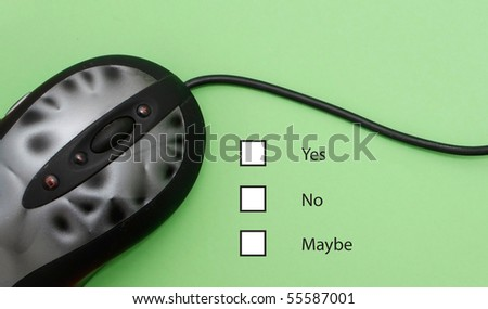 Online customer survey - stock photo