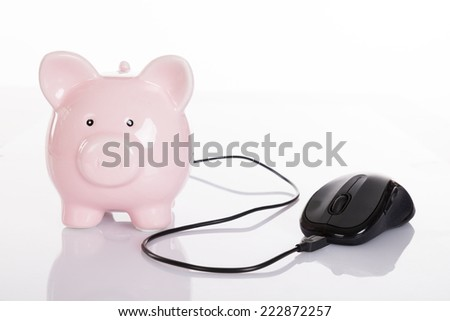 Online finance concept. Isolated on white background - stock photo