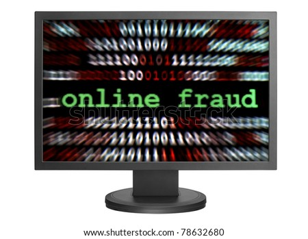Online fraud - stock photo