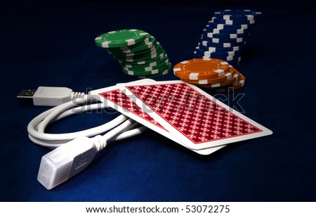 Online gaming - stock photo