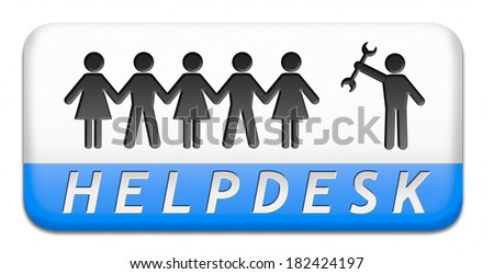 online helpdesk support desk or help desk button technical assitance and customer service - stock photo