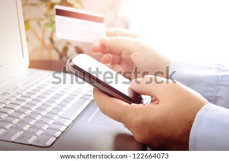 Online market - stock photo