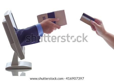 online marketing concept - stock photo