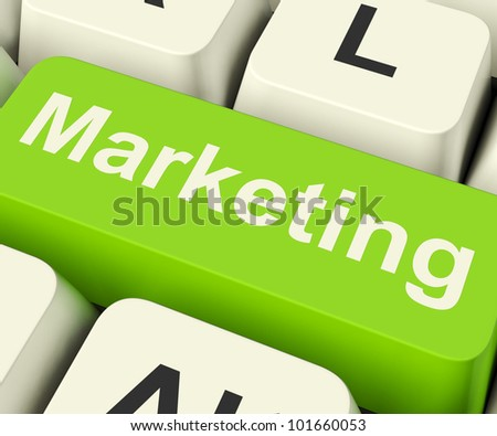 Online Marketing Key Can Be Blogs Websites Social Media Or Email Lists - stock photo
