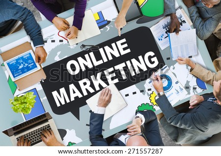 Online Marketing Promotion Branding Advertisement Concept - stock photo