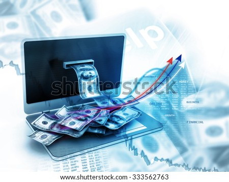 Online money concept - stock photo