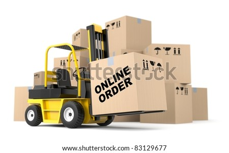 Online order - stock photo