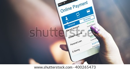 Online Payment Purchase Merchandise Buying Paying Concept - stock photo