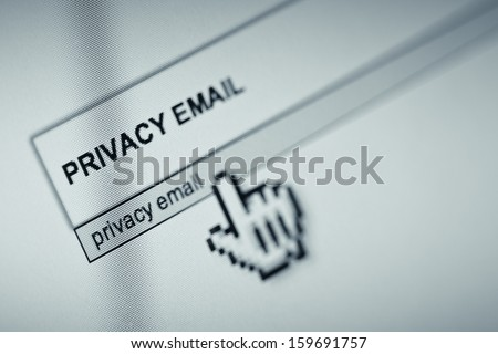 Online search concept for email privacy - stock photo