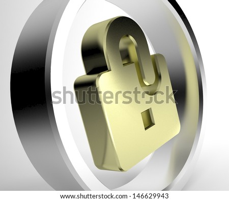 online security concept - stock photo