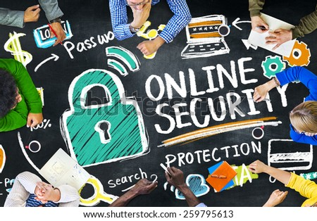 Online Security Protection Internet Safety Education Learning Concept - stock photo
