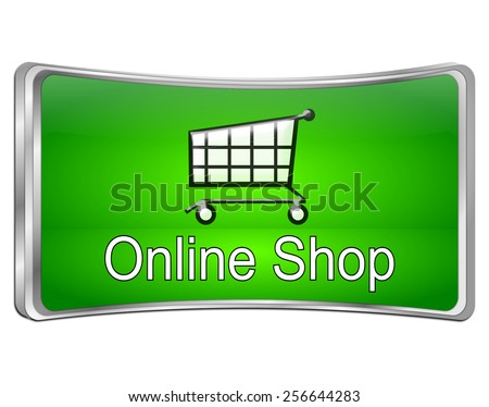 online Shop Button - stock photo