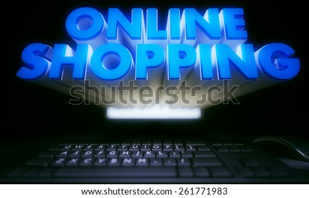 Online Shopping - stock photo