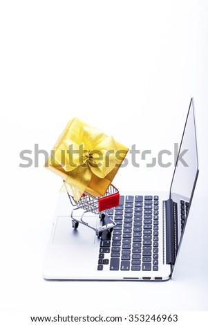 online shopping - stock photo