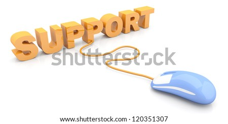 Online Support. 3D rendered Illustration. - stock photo