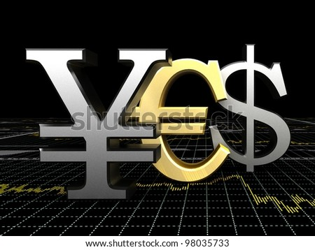 online trading forex - stock photo