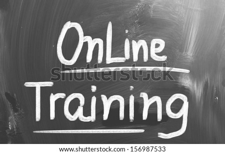Online Training Concept - stock photo