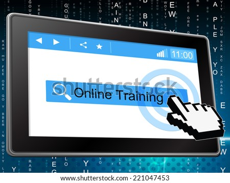 Online Training Indicating World Wide Web And Study Schooling - stock photo