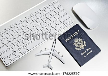 Online travel  - stock photo