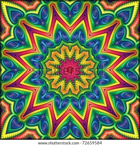 Oodles of Color Kaleidoscope - stock photo
