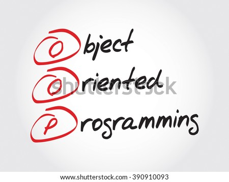 OOP Object Oriented Programming, acronym business concept - stock photo