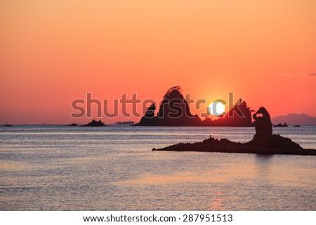 Ootago coast of sunset, Izu, Shizuoka, Japan - stock photo