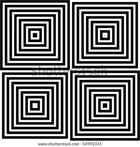 Op Art Only Symmetrical Shapes 08 Seamless - stock photo