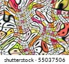 Op Art Swirling Squares 04 - stock photo