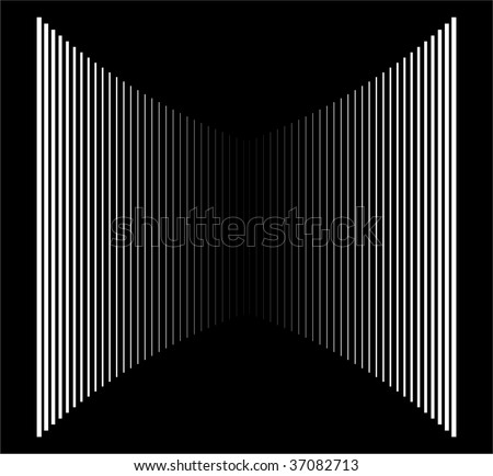 Op Art Vertical Bars White On Black Progressive 01 - stock photo