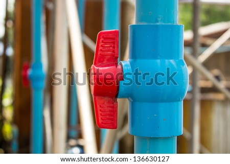 Open and closed for the water to flow through - stock photo